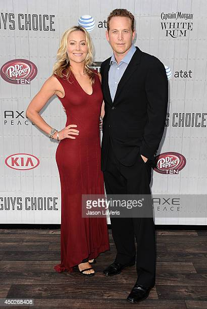 Actress Cynthia Daniel and actor Cole Hauser attend Spike TV's Guys Choice Awards at Sony Studios on June 7 2014 in Los Angeles California