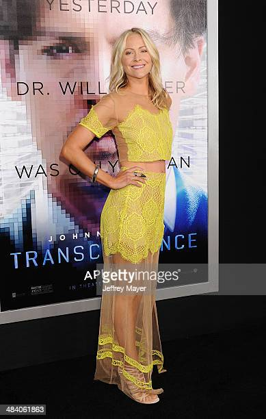 Actress Cynthia Daniel arrives at the 'Transcendence' Los Angeles Premiere at Regency Village Theatre on April 10 2014 in Westwood California