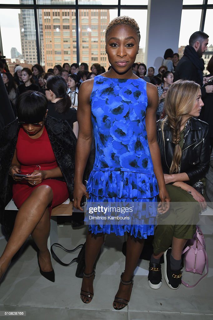 Actress, Cynthia Erivo, attends the Michael Kors Fall 2016 Runway Show during New York Fashion Week: The Shows at Spring Studios on February 17, 2016 in New York City.