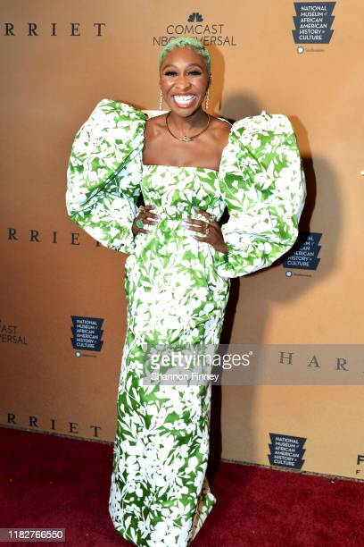 Actress Cynthia Erivo attends the Washington DC premiere of Harriet at the Smithsonian National Museum Of African American History on October 22 2019...