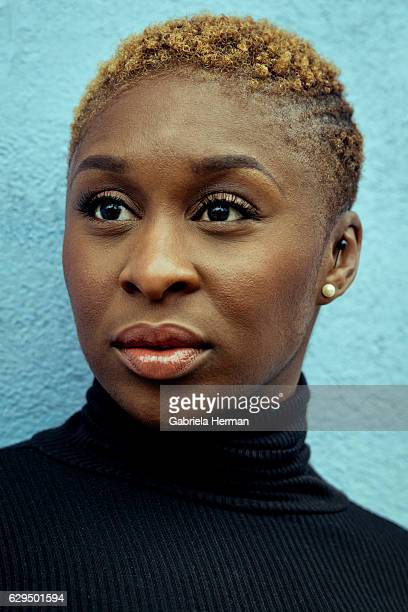 Actress Cynthia Erivo is photographed for New York Times on November 12 2015 in Williamsburg Brooklyn New York