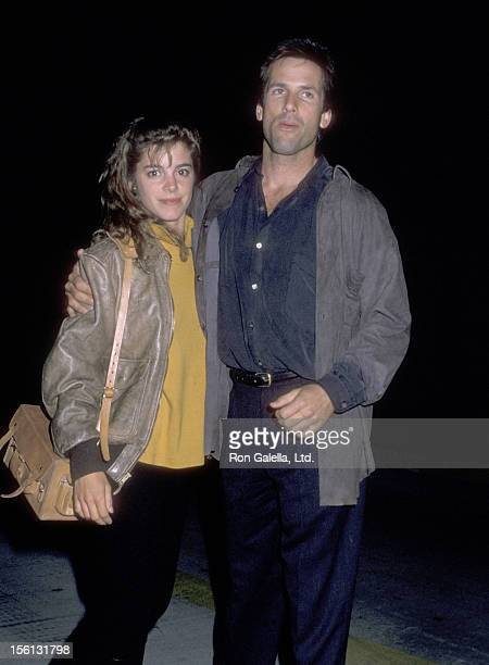 Actress Cynthia Gibb and actor Hart Bochner attend the 'Hurlyburly' Play Performance on December 1 1988 at Westwood Playhouse in Westwood California