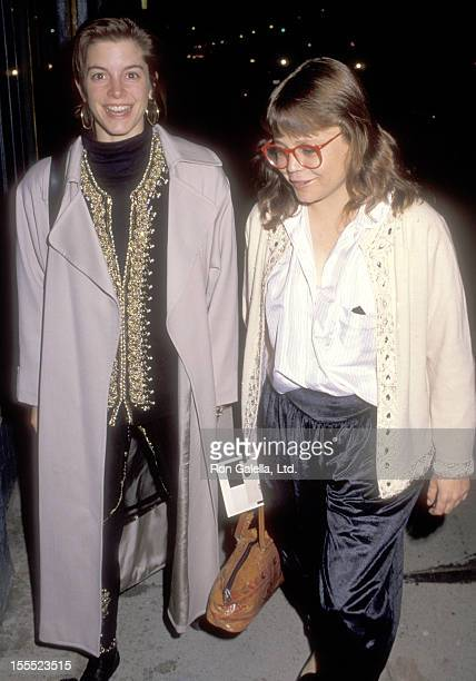 Actress Cynthia Gibb and actress Dana Hill attend Mark Schilder's Paintings Opening Night Exhibition on November 3 1990 at 817 Gallery in Hollywood...