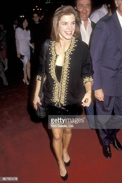 """Actress Cynthia Gibb attends the """"Sibling Rivalry"""" Hollywood Premiere on October 24, 1990 at Mann's Chinese Theatre in Hollywood, California."""
