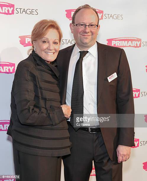 Actress Cynthia Harris and artistic director at primary stages Andrew Leynse attend the Primary Stages 2016 Gala at 538 Park Avenue on October 17...