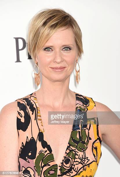 Actress Cynthia Nixon arrives at the 2016 Film Independent Spirit Awards on February 27 2016 in Santa Monica California