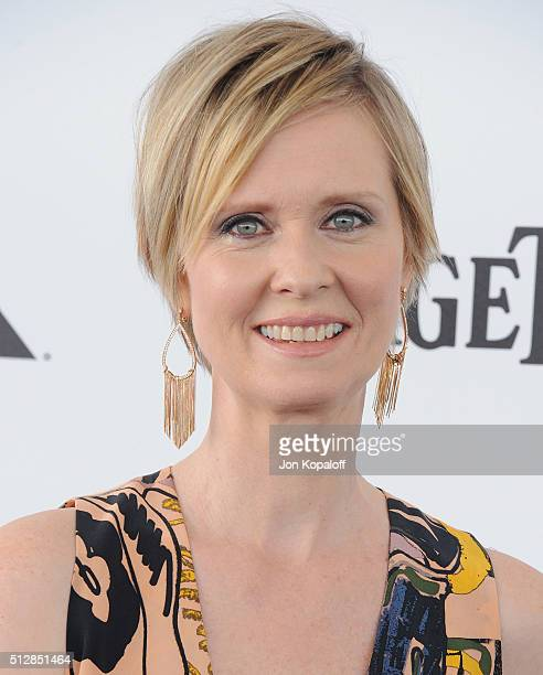 Actress Cynthia Nixon arrives at the 2016 Film Independent Spirit Awards on February 27 2016 in Los Angeles California