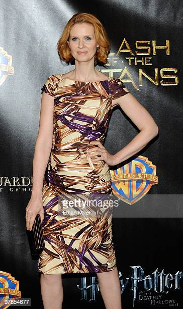 Actress Cynthia Nixon arrives at the Warner Bros Pictures presentation to promote her new film Sex and the City 2 at the Paris Las Vegas during...