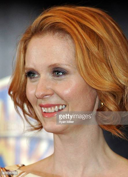Actress Cynthia Nixon arrives at Warner Bros Pictures' 'Big Picture 2010' during ShoWest 2010 held at Paris Las Vegas on March 18 2010 in Las Vegas...