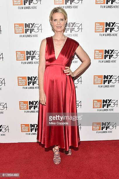 Actress Cynthia Nixon attends 'A Quiet Passion' and 'Neruda' premiere during the 54th New York Film Festival at Alice Tully Hall on October 5 2016 in...