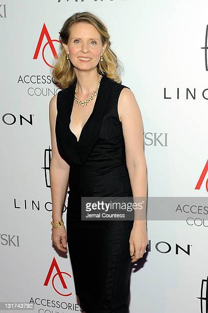 Actress Cynthia Nixon attends Accessories Council 15th Annual ACE Awards at Cipriani 42nd Street on November 7 2011 in New York City