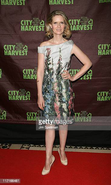 "Actress Cynthia Nixon attends City Harvest's 17th Annual ""An Evening of Practical Magic"" at Cipriani 42nd Street on April 13, 2011 in New York City."