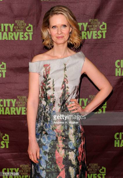 "Actress Cynthia Nixon attends City Harvest's 17th Annual ""An Evening of Practical Magic"" hosted by Cynthia Nixon at Cipriani 42nd Street on April 13,..."