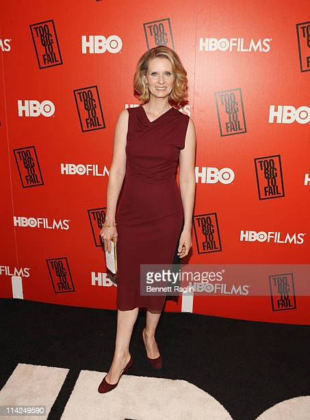 Actress Cynthia Nixon attends HBO's 'Too Big to Fail' premiere at The Museum of Modern Art on May 16 2011 in New York City
