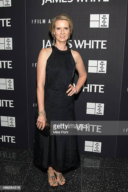 Actress Cynthia Nixon attends opening night of MOMA's eighth annual Contenders featuring The Film Arcade's 'James White' at Museum of Modern Art on...