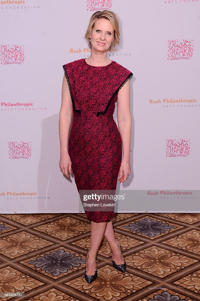 Actress Cynthia Nixon attends Russell Simmons' Rush Philanthropic Arts Foundation's annual Rush HeARTS Education Valentine's Luncheon at The Plaza Hotel on February 13, 2015 in New York City.