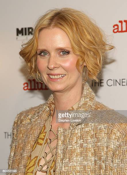 """Actress Cynthia Nixon attends """"Smart People"""" screening hosted by the Cinema Society & Linda Wells at the Landmark Sunshine Theater on March 31, 2008..."""