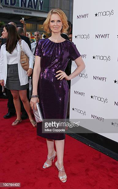 Actress Cynthia Nixon attends the 2010 New York Women In Film Television Designing Women Awards at Macy's Herald Square on May 25 2010 in New York...