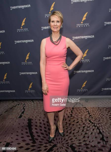 Actress Cynthia Nixon attends the 2017 Drama Desk Nominees Reception at Marriott Marquis Times Square on May 10 2017 in New York City