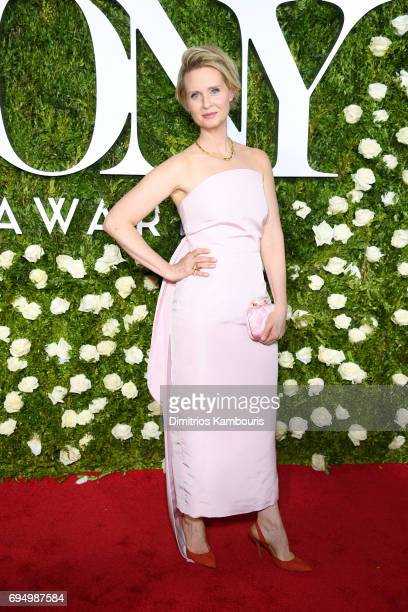 Actress Cynthia Nixon attends the 2017 Tony Awards at Radio City Music Hall on June 11 2017 in New York City