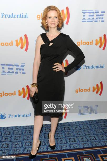 Actress Cynthia Nixon attends the 21st Annual GLAAD Media Awards at The New York Marriott Marquis on March 13, 2010 in New York, New York.