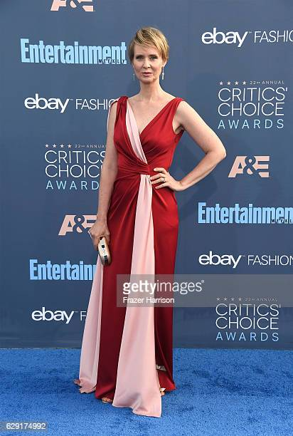 Actress Cynthia Nixon attends The 22nd Annual Critics' Choice Awards at Barker Hangar on December 11 2016 in Santa Monica California