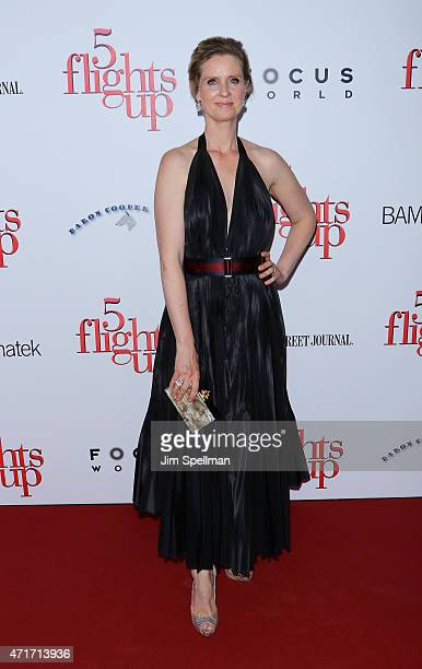 Actress Cynthia Nixon attends the '5 Flights Up' New York premiere at BAM Rose Cinemas on April 30 2015 in the Brooklyn borough of New York City