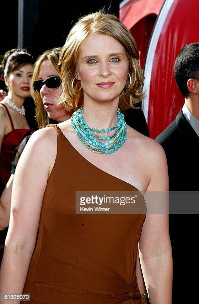 Actress Cynthia Nixon attends the 56th Annual Primetime Emmy Awards at the Shrine Auditorium September 19 2004 in Los Angeles California
