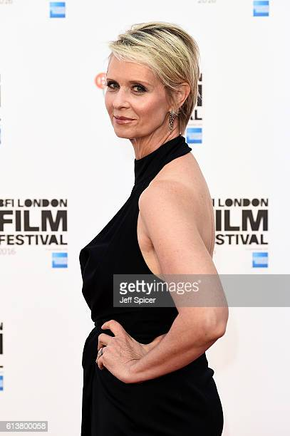 Actress Cynthia Nixon attends the 'A Quiet Passion' official competition screening during the 60th BFI London Film Festival at Embankment Garden...