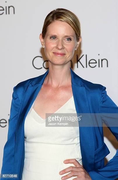Actress Cynthia Nixon attends the Calvin Klein 40th Anniversary during MercedesBenz Fashion Week at The High Line on September 7 2008 in New York City