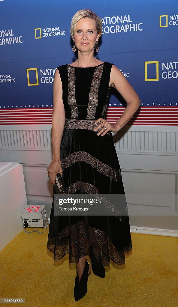 Actress Cynthia Nixon attends the 'Killing Reagan' Washington DC premiere at The Newseum on October 6, 2016 in Washington, DC.