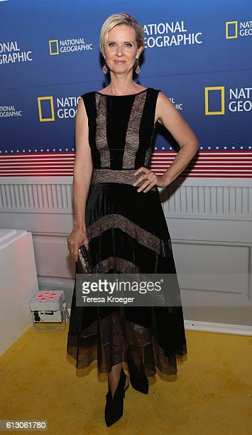 Actress Cynthia Nixon attends the Killing Reagan Washington DC premiere at The Newseum on October 6 2016 in Washington DC