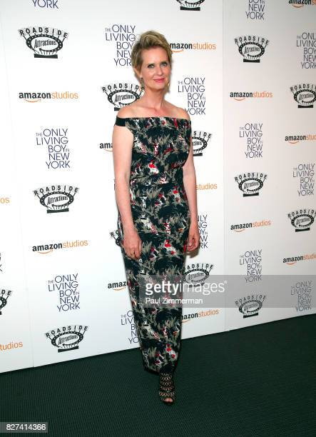 Actress Cynthia Nixon attends The Only Living Boy In New York New York premiere at The Museum of Modern Art on August 7 2017 in New York City