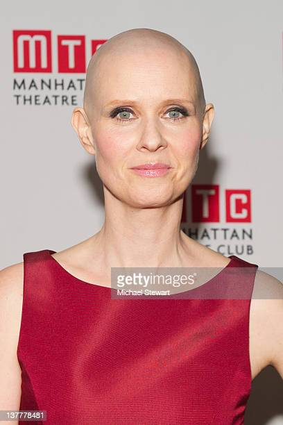 Actress Cynthia Nixon attends the opening night after party for 'Wit' at the BB King Blues Club Grill on January 26 2012 in New York City