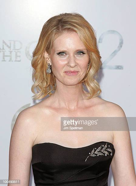 Actress Cynthia Nixon attends the premiere of 'Sex and the City 2' at Radio City Music Hall on May 24 2010 in New York City