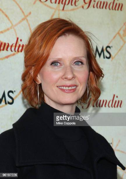 Actress Cynthia Nixon attends the premiere of Temple Grandin at the Time Warner Screening Room on January 26 2010 in New York City