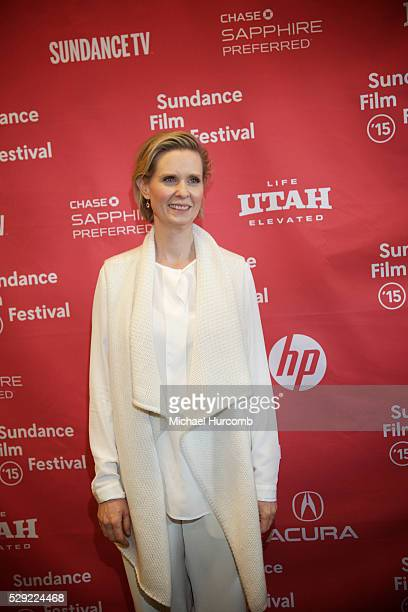 """Actress Cynthia Nixon attends the """"Stockholm, Pennsylvania"""" premiere at the 2015 Sundance Film Festival"""