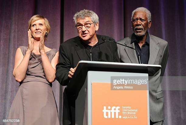 Actress Cynthia Nixon Director Richard Loncraine and Actor Morgan Freeman attend the 'Ruth Alex' premiere during the 2014 Toronto International Film...