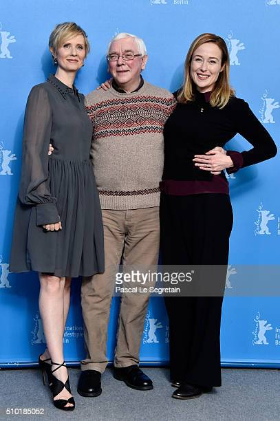 Actress Cynthia Nixon, director Terence Davies and actress Jennifer Ehle attend the 'A Quiet Passion' photo call during the 66th Berlinale...