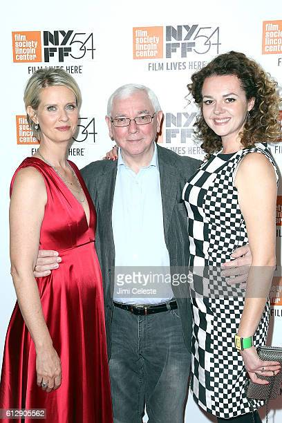 Actress Cynthia Nixon Director Terrence Davies and Actress Catherine Bailey attending the 54th New York Film Festival Neruda and A Quiet Passion...