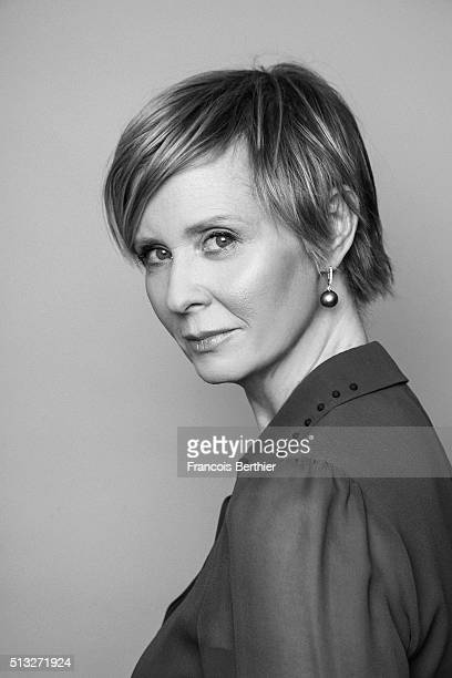 Actress Cynthia Nixon is photographed for Self Assignment on February 14 2016 in Berlin Germany