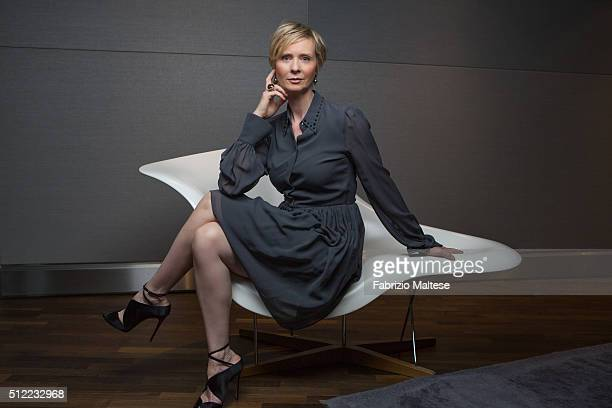 Actress Cynthia Nixon is photographed for The Hollywood Reporter on February 15 2016 in Berlin Germany