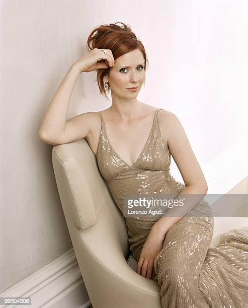 Actress Cynthia Nixon poses for a portrait shoot for More magazine in New York on October 14 2007 Cover image