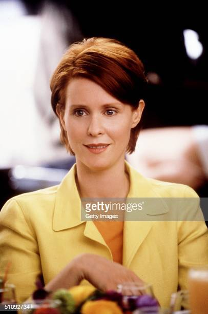 Actress Cynthia Nixon Stars In The Comedy Series 'Sex And The City' Now In Its Third Season