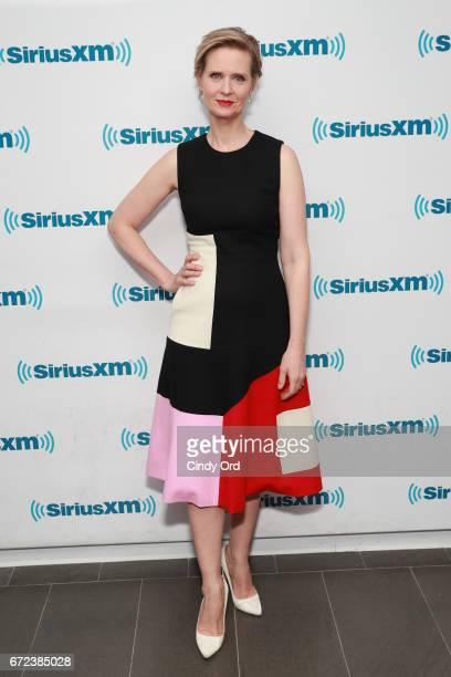 Actress Cynthia Nixon visits the SiriusXM Studios on April 21 2017 in New York City