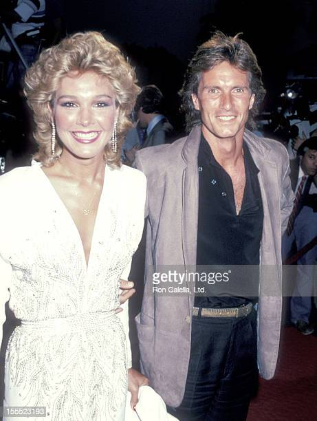 Actress Cynthia Rhodes and guest attend the Staying Alive Hollywood Premiere on July 11 1983 at Mann's Chinese Theatre in Hollywood California