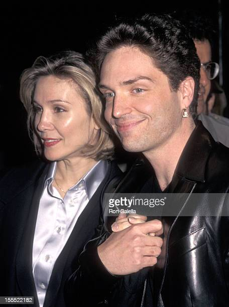 Actress Cynthia Rhodes and musician Richard Marx attend the Anastasia New York City Premiere on November 9 1997 at the Metropolitan Opera House...