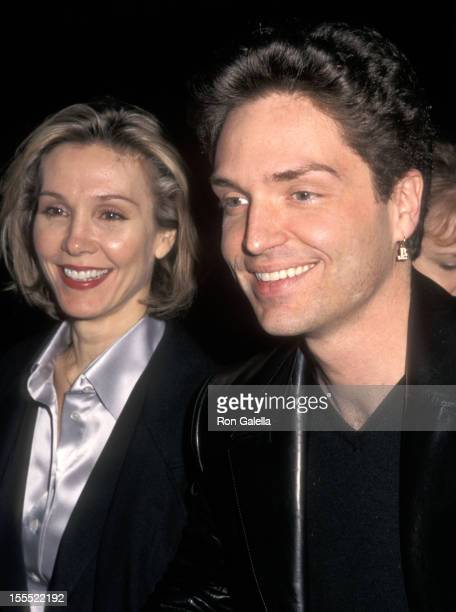 Actress Cynthia Rhodes and musician Richard Marx attend the Anastasia New York City Premiere on November 9 1997 at the Metropolitan Opera House...
