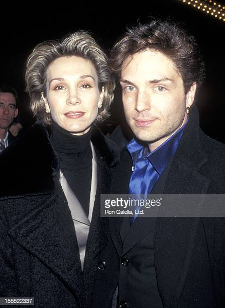 Actress Cynthia Rhodes and musician Richard Marx attends the David Copperfield Dreams and Nightmares Opening Night Performance on December 5 1996 at...