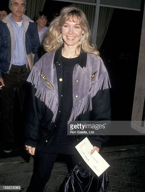 Actress Cynthia Rhodes attends the 45th Annual Golden Globe Awards Rehearsals on January 22 1988 at Beverly Hilton Hotel in Beverly Hills California